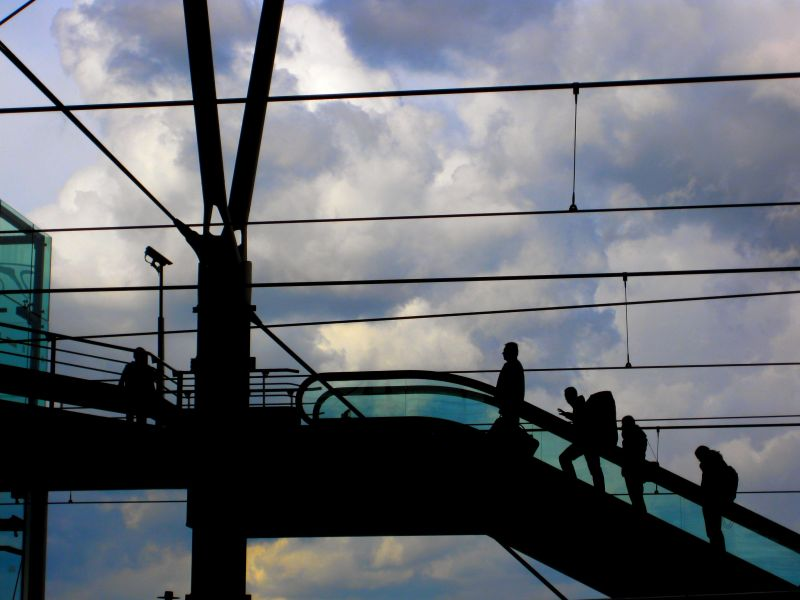 Silhouettes at the station