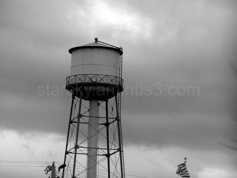 A water tower