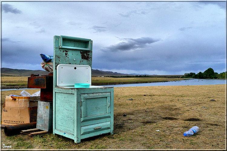 Une salle de bain en Mongolie