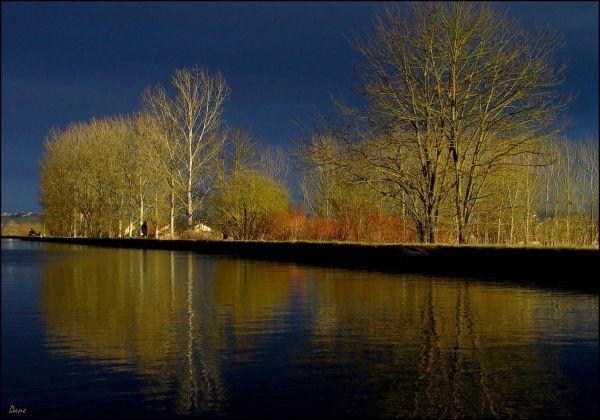 un jour de janvier au bord du canal