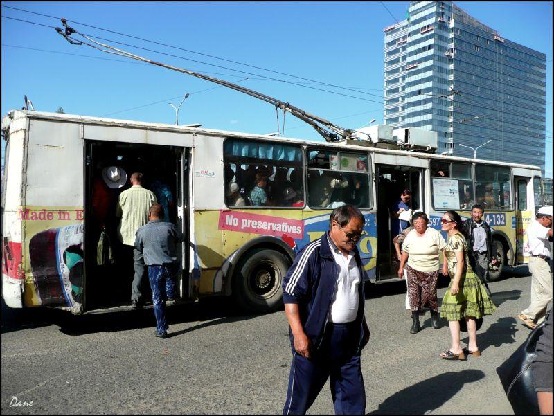 Un bus à Ulan Bator..