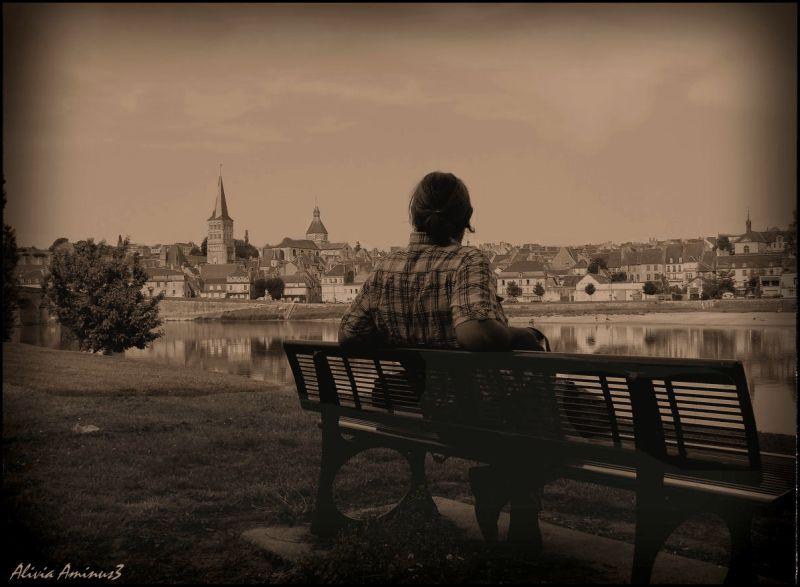 contemplation.. la Loire se promène ..