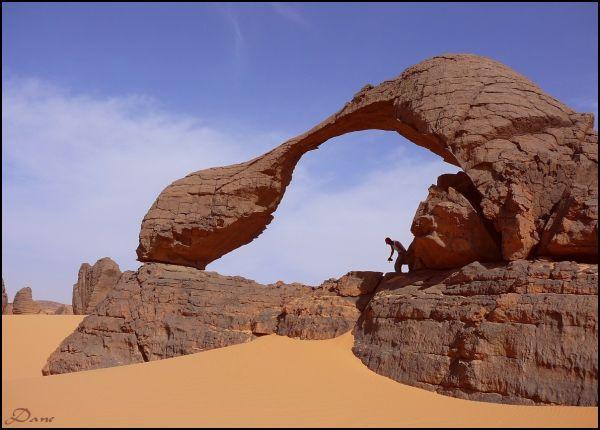 Arche et sable .. desrt du Tin Rheror