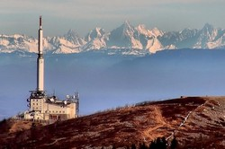 Les Alpes vues du Crêt de l'oeillon