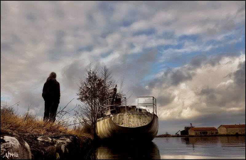 Sur les bords du canal ... en février ..