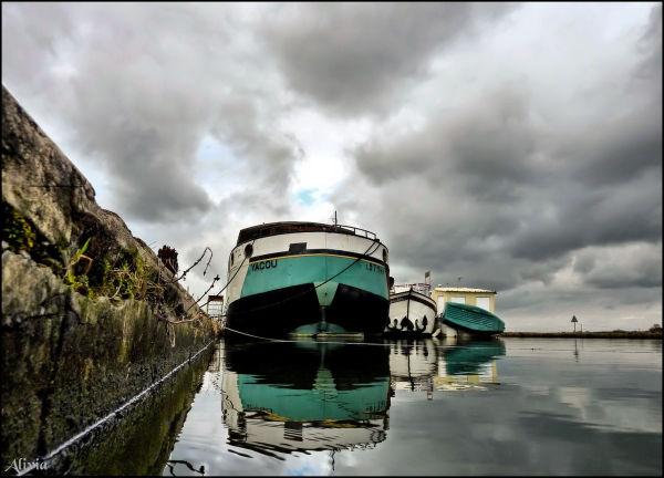 L'hiver sur le canal à Marseilles lès Aubigny dans