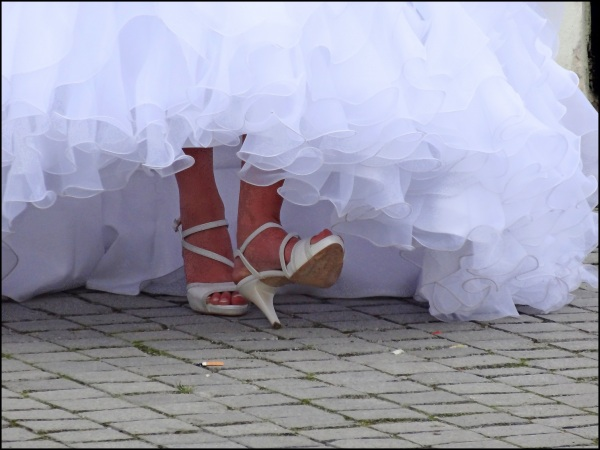 Mariée d'un jour à Sibiu (Roumanie)