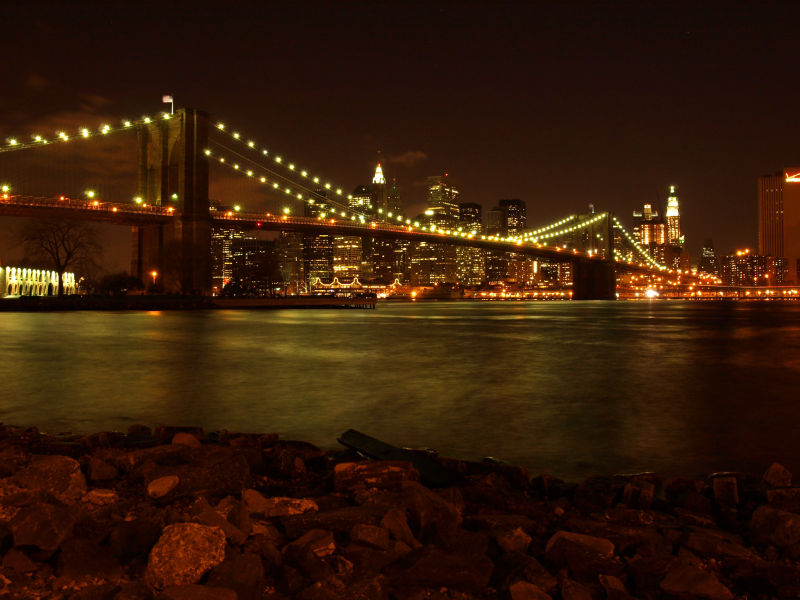 Evening view from DUMBO