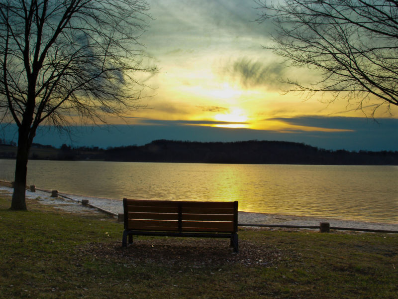 Sunset at Marsh Creek State Park