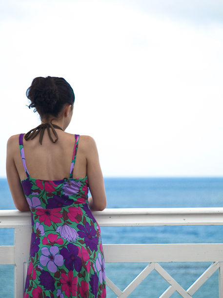 Taking in the Jamaican Sea