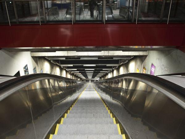 Vastra Skogen Metro Escalator