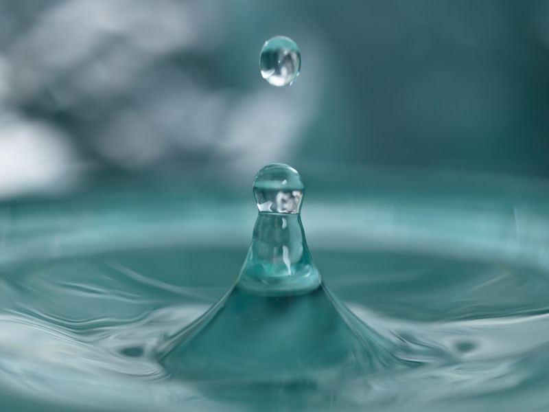 Turquoise Droplet