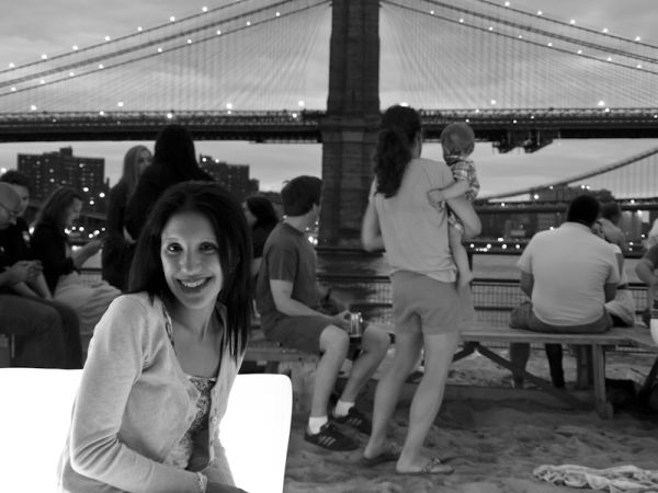 Lisa at Beekman Beer Garden Beach Club