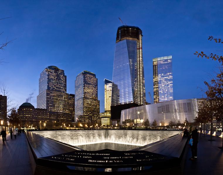 South Tower Memorial Panoramic at Night