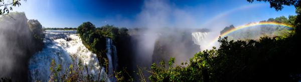 Victoria Falls Double Rainbow Pano