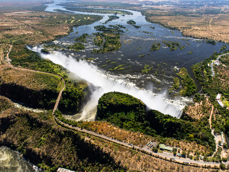 Victoria Falls - Helicopter Perspective!