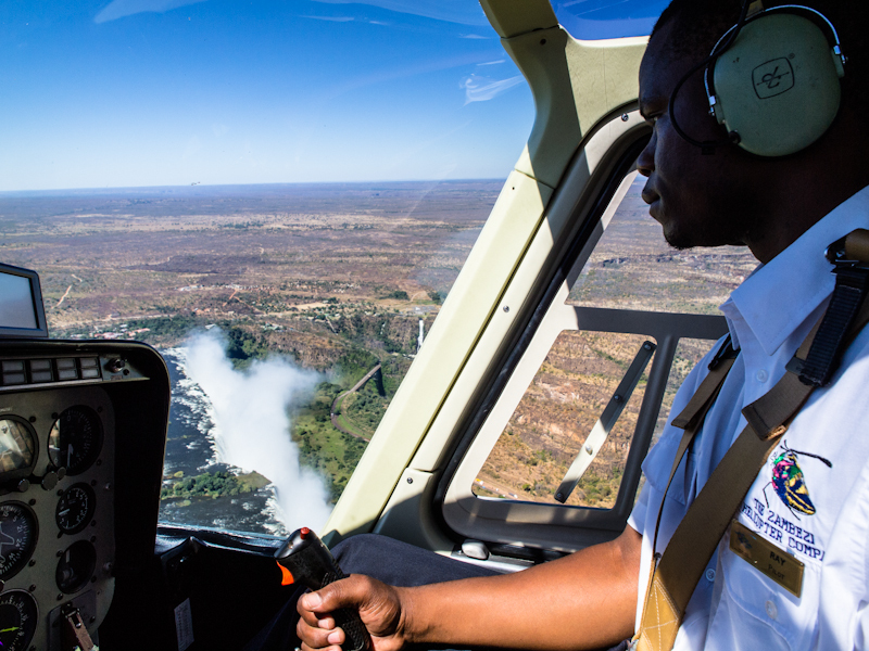Victoria Falls - Inside the cockpit