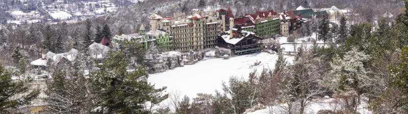 Mohonk Mountain House from Sky Top