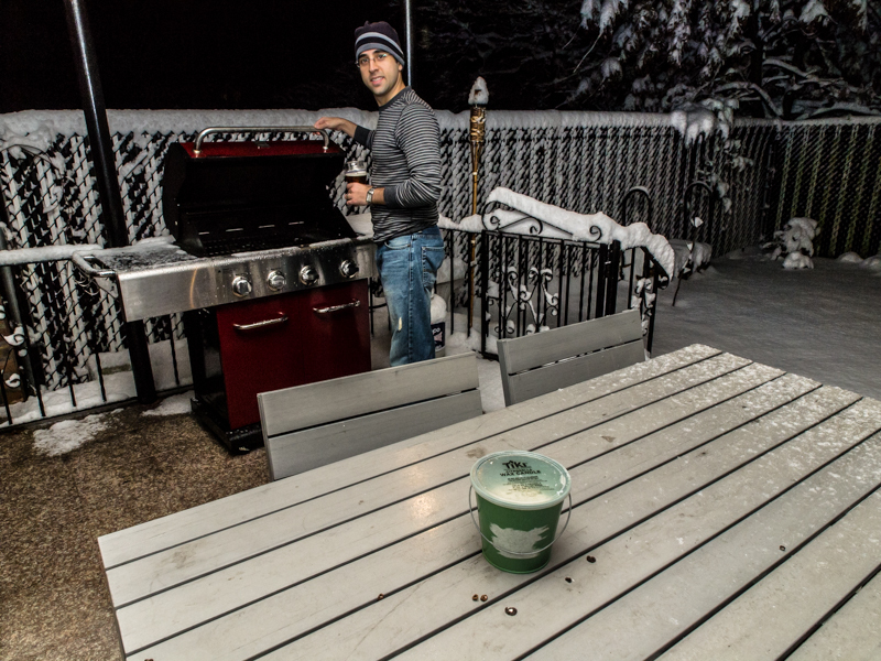 Silly Tuesday: It's never too cold to grill!