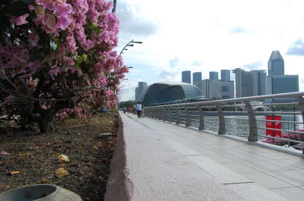 Sidewalk along Fullerton Square, Singapore