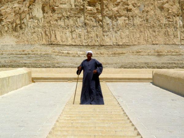 Egyptian man at Hatshepsut Temple