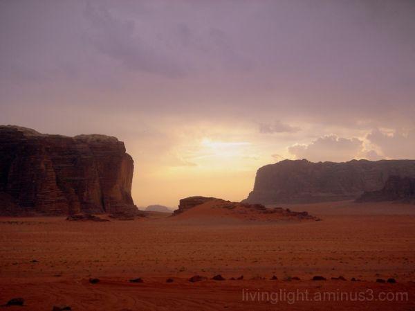 One amazing sunset at Wadi Rum