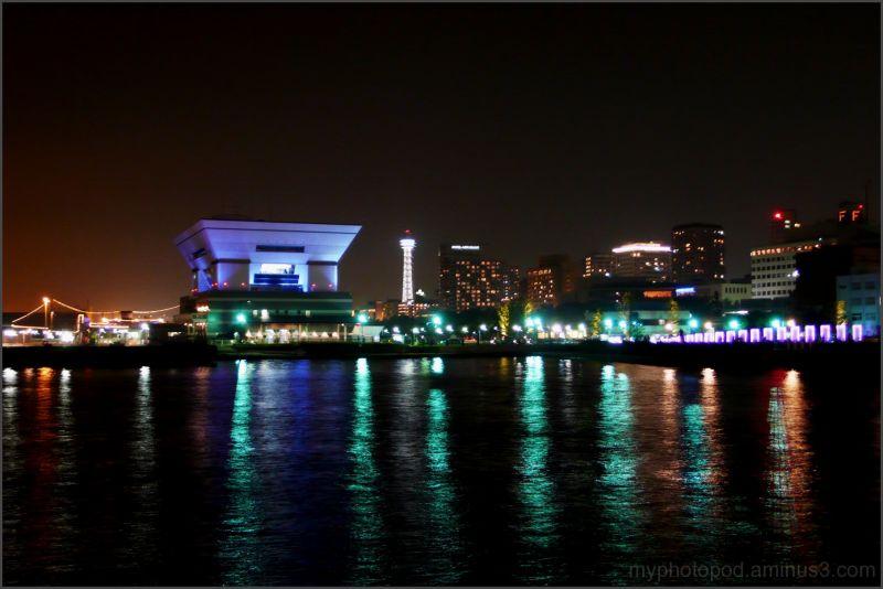 yokohama nightview Try to watch Marine Tower LEICA