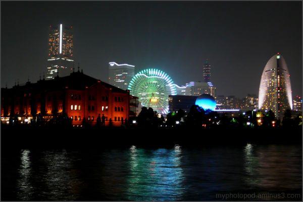 yokohama night view A past building future LEICA