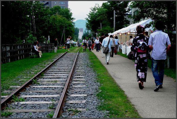 The promenade of an old railroad otaru LEICA