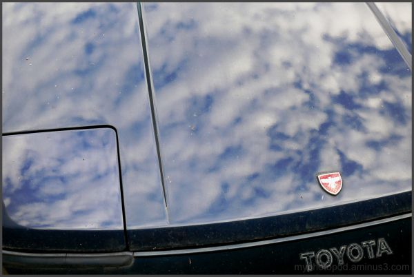 The sky which appears in the bonnet