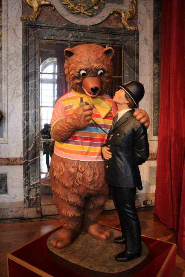 Bear and Policeman by Jeff Koons