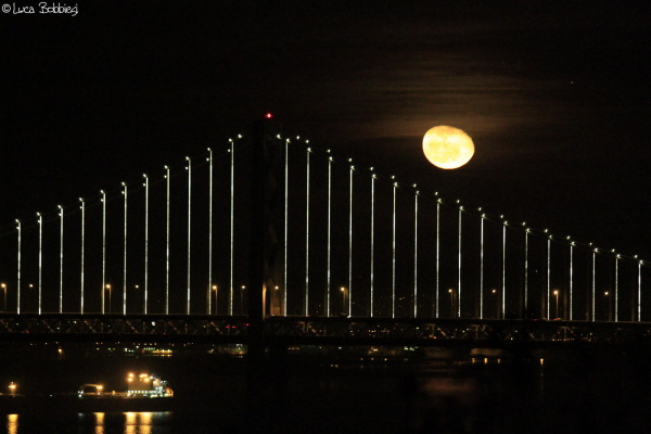 Moon & Bay Bridge