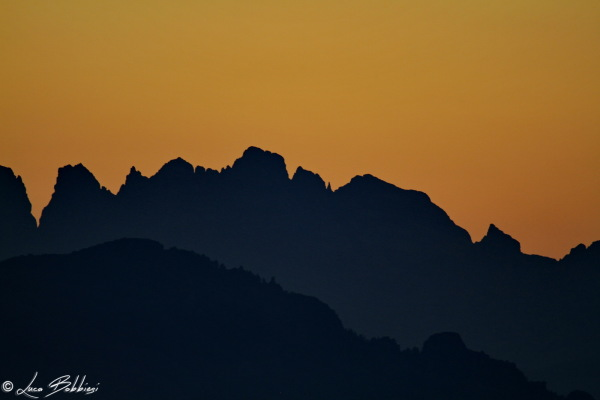 Sunset On Mountains Layers