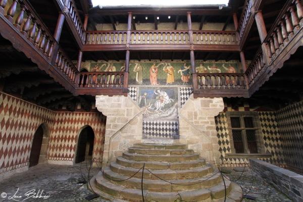 Cortile del Castello di Fenis
