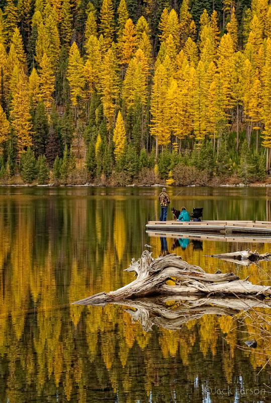 Fishing on Olive Lake