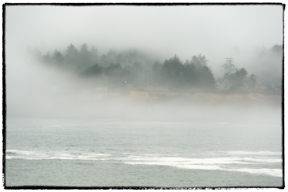 Fogged-in Depoe Bay