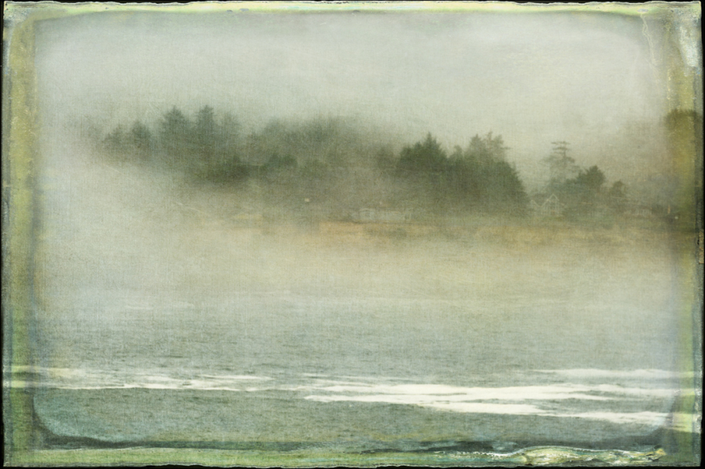 Fogged-in Depoe Bay (w/texture)