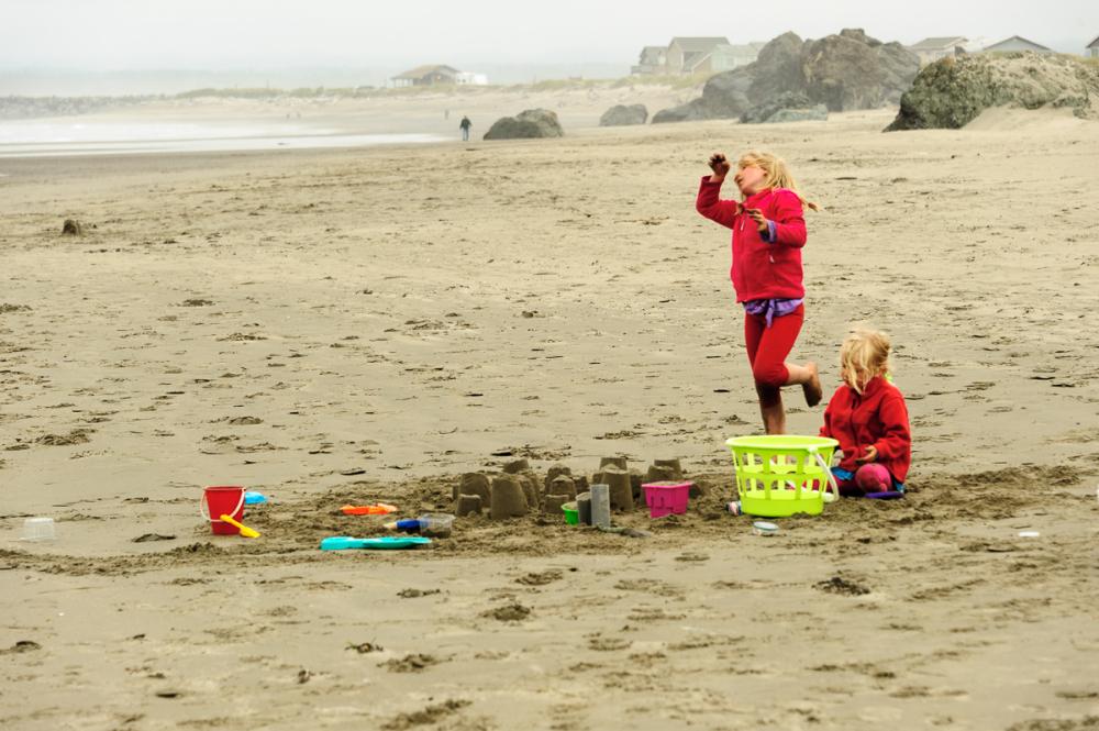 Girls at Bandon Beach