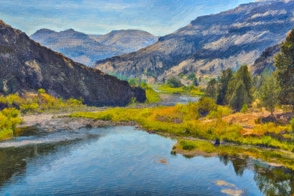John Day River (painterly)