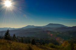 Sunburst Over the Coastal Range