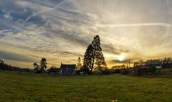 Highland Avenue Sunrise (Fisheye)