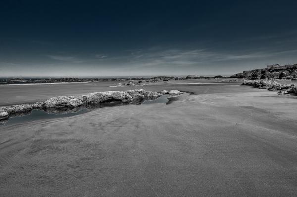 Quail Beach Series - looking North BW