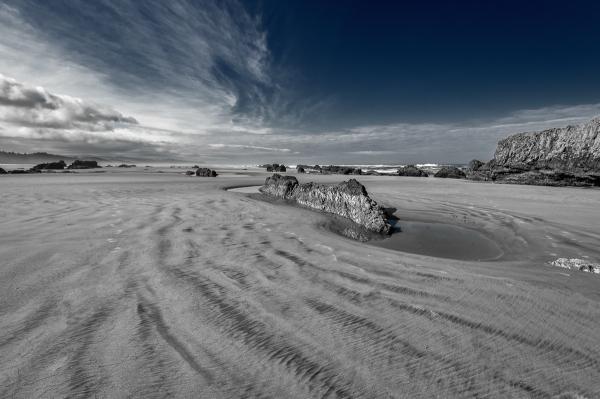 Quail Beach Series - looking South BW