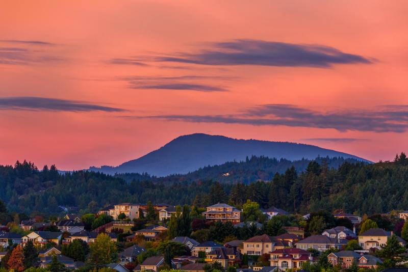 Sunrise Over Mary's Peak
