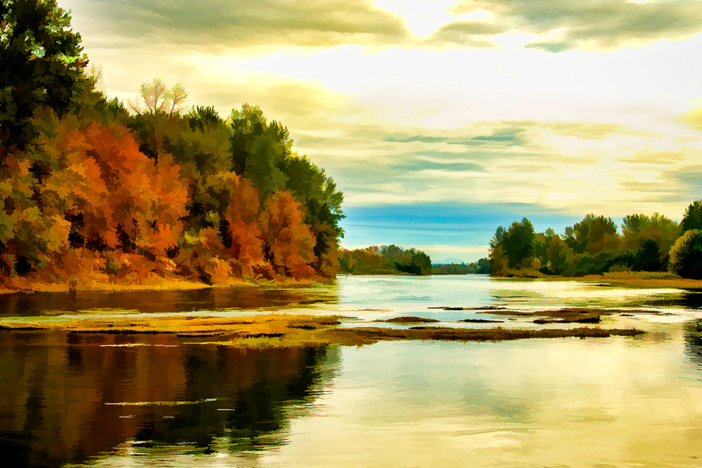 Autumn on the Willamette (BuzSim)