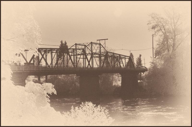 Van Buren St. Bridge IR (Antique Plate)