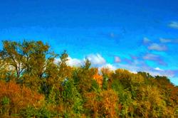 """Beautiful Fall Day""  (Topaz Impression, Cezanne)"