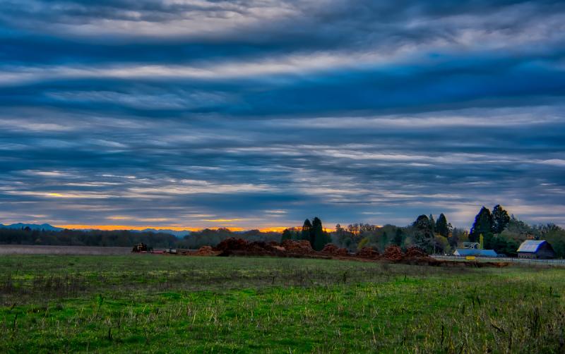 """Morning Sky, Looking East"""