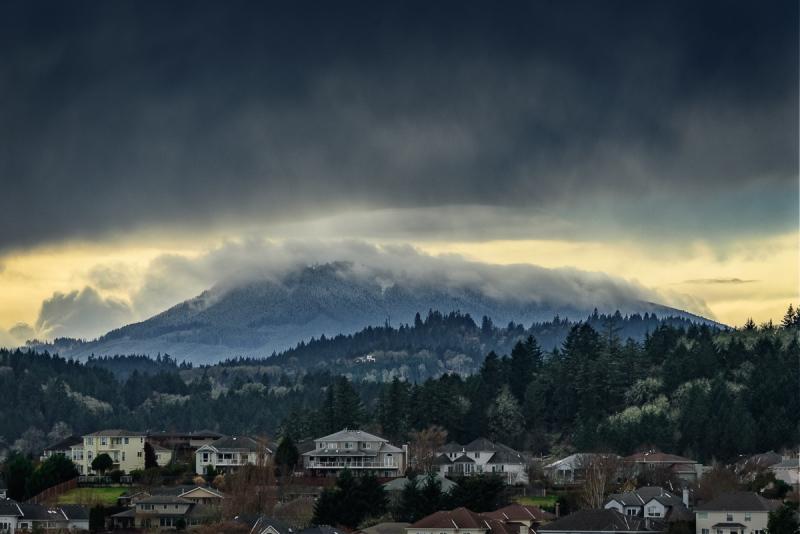 Storm Over Mary's Peak