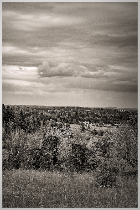 Clouds Over Corvallis BW